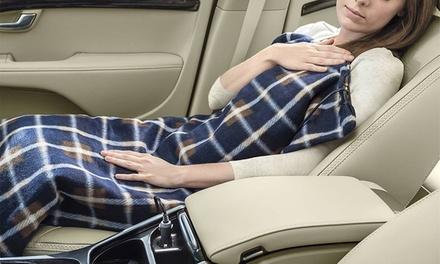 Electric 12V Heated Fleece Blanket For Cars
