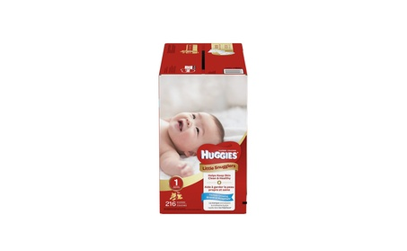 Huggies Little Snugglers Baby Diapers, Size 1, 216 Count ad04d6e5-88c8-4e99-94d4-04f0b10646cf