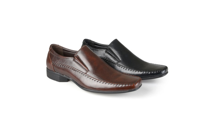 Vance Co. Mens Square Toe Slip-on Loafers