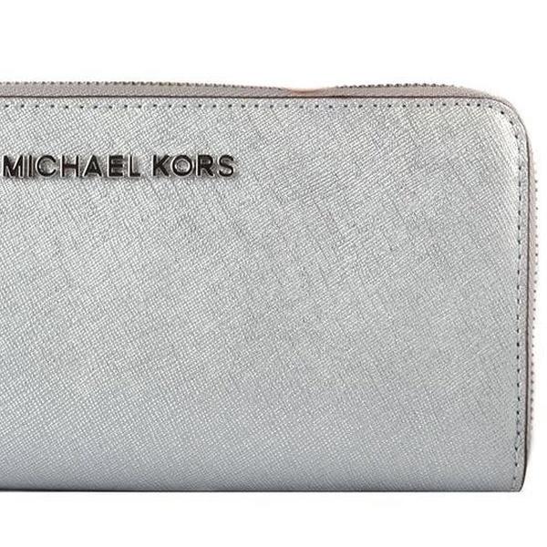 f041829f9114 Michael Kors Money Pieces Flat Wallet - SILVER - 32F7MF6F2M-040 | Groupon