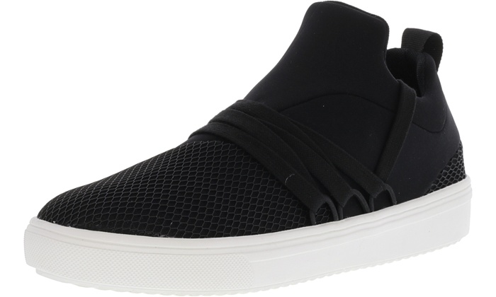 10a310c8880 Steve Madden Women's Lancer Ankle-High Fabric Fashion Sneaker | Groupon