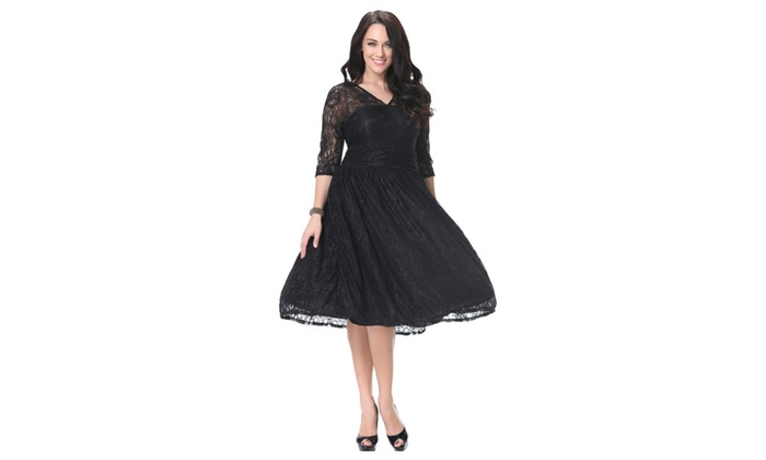 Up To 65 Off On Women Plus Size Pleated Halte Groupon Goods