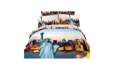 Dolce Mela DM492K NYC City Themed King Size Bedding Duvet Cover Set 67c79588-e8e8-4205-9d97-962624fde9d4