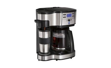 Black 2-Way Brewer Coffee Maker d4710f19-85cb-4a74-9c29-73c8278dcb8d