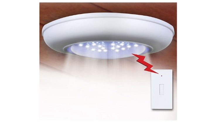 Cordless Ceiling-Wall Light With Remote Control Light Switch