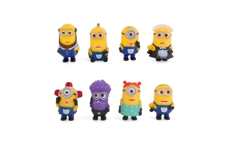 8pcs Minions decoration action figures despicable me Small cartoon 3d6ff80b-e755-4c51-a1bb-4cf62df9cdb8