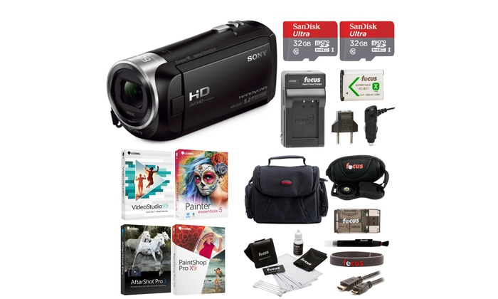Sony HDR-CX405 Handycam Camcorder with Two 32GB Cards and Li-ion Battery