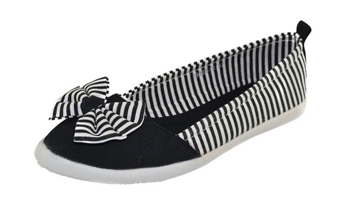 Women's Fashion Bow Canvas Shoes