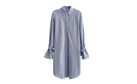 New Arrival Casual Long Sleeved Striped Women Shirt cc22d1e5-a67e-4581-a155-e3c1e606f817