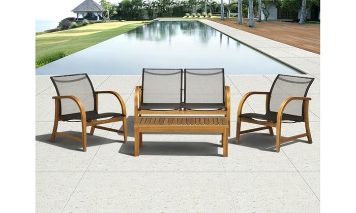 Charmant ... Manhattan Eucalyptus Patio Furniture Set (4 Piece) ...