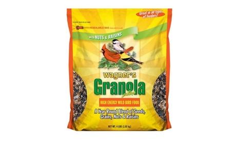 Wagner's 4 LB Granola Plus High Energy Wild Bird Food (Goods For The Home Patio & Garden Bird Feeders & Food) photo