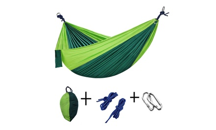 Camping Hammock Lightweight Nylon Portable Hammock Was: $29.99 Now: $12.99