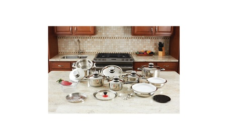28pc 12-Element High-Quality, Heavy-Gauge Stainless Steel Cookware Set f5b378ae-5c53-4bf2-9034-42c2182d450c