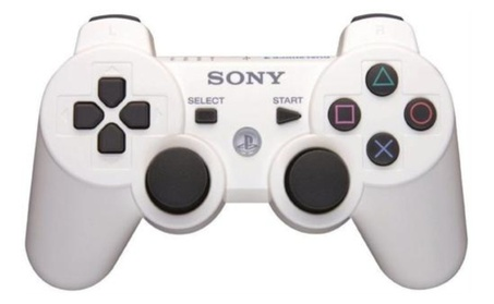 White Sony Playstation 3 Dualshock Wireless Controller 6c3e42b7-be62-409e-b49c-35b86011faff