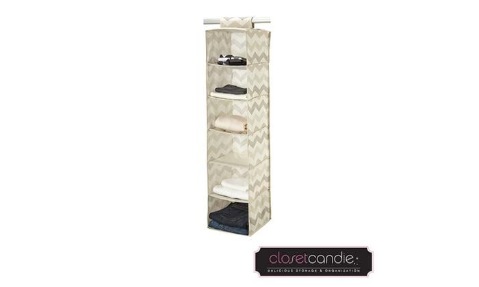 Groupon Goods: Closet Candie 6 Shelf Hanging Closet Organizer ...
