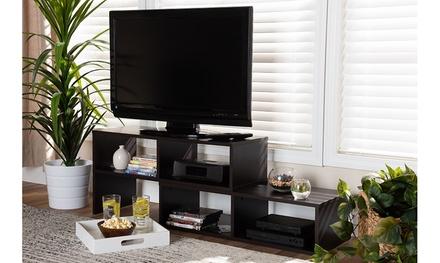 Andor Brown Adjustable 2-Piece Wood TV Stand