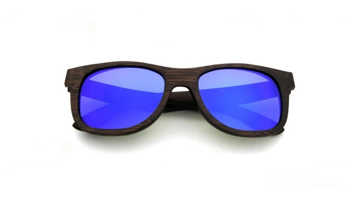 T2 Pure natural Handmade Bamboo Sunglasses Glasses With Polarized Lens