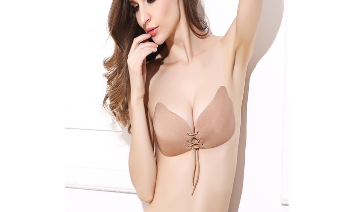 d108c5c911 Strapless Backless BRA Push Up Silicone Drawstring Adjustable Breast Lift  Bras