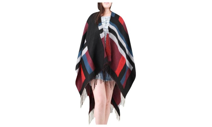 Women's Long Length Tassel Lightweight Woven Casual Shrug - As Picture / One Size