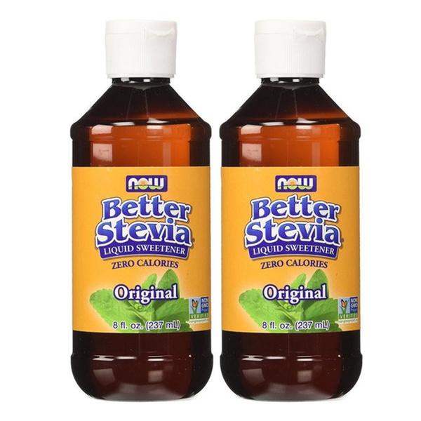 Now Foods Better Stevia Original Liquid Extract 8oz 2-Pack Natural