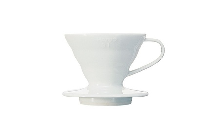 Hario V60 Ceramic Coffee Dripper (Size 01, White) 37a2d619-73f4-4e74-a8ee-dba4305c3afe