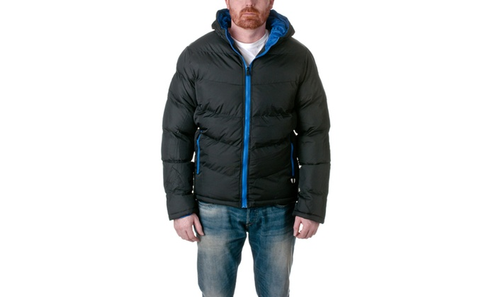 Republic Mens Puffer Coat With Hood DUNK