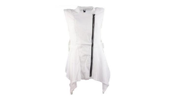 Women's Vest Long Jacket Sleeveless Chiffon Bodycon Waistcoats