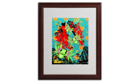 Miguel Paredes 'Pulgha Japan 2' Matted Wood Framed Art c20b2d1f-f706-4ace-a442-72fadbf9a0c3