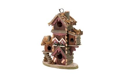 Gingerbread Style Thatched Roofs and Colorful Bird House (Goods Outdoor Décor Bird Feeders & Baths) photo