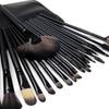 QPower Premium Hollywood Makeup Brush 24 pcs Set Black