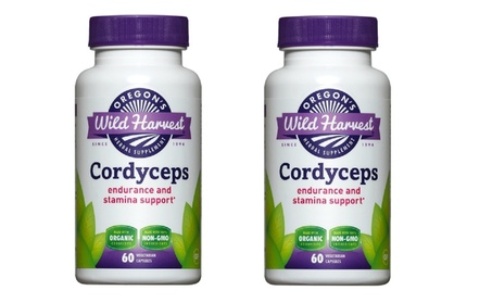 Oregon's Wild Harvest Cordyceps 2-Pack (2 x 60 Veggie Capsules) 396fe8b1-ab18-4abd-9066-ce09d7f4b239