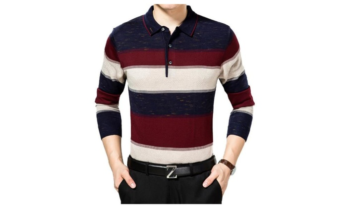 Men Fashion Long Sleeve Pullovers T-Shirts For Man Christmas