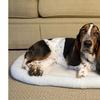 Iconic Pet - Premium Synthetic Sheepskin Handy Bed - White - Medium