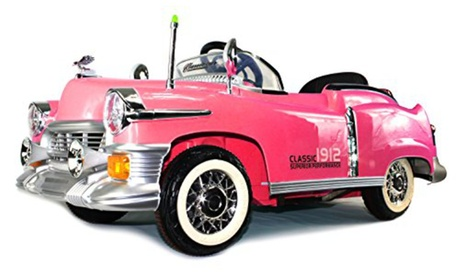 Classic 1912 Coupe Cruiser Rechargeable Remote Control Ride w/ MP3 Player(Pink) 675c023b-04b2-436f-a2ed-b36e294c72ae