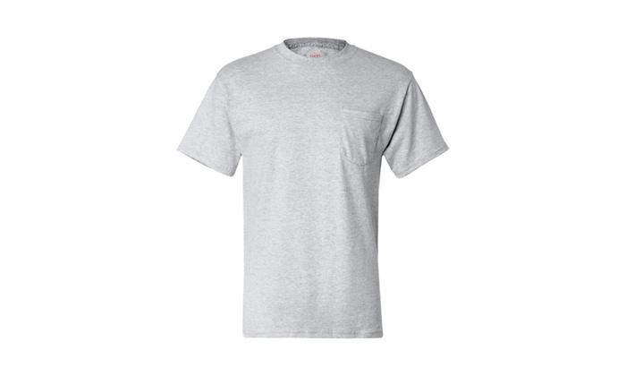 Hanes Short-sleeve Beefy-T Pocket T-Shirt, 5190
