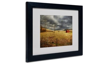 Lois Bryan 'Winter Begins' Matted Black Framed Art 5aba54fa-023d-4466-b60c-53ae6521582d