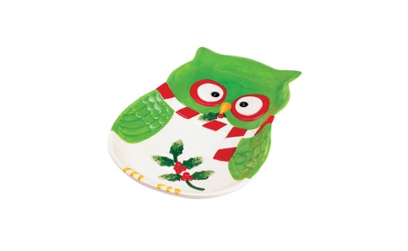Koehler Home Decor Holiday Hoot Plate 9f4338c0-fa92-4adb-be11-34ed1e5d7d30