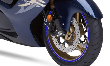 iMounTEK Weatherproof Motorcycle Wheel Rim Reflective Decal Tape (2-Pack)