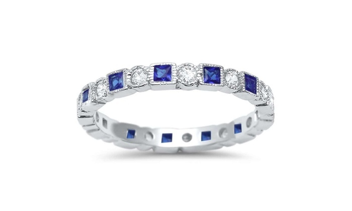b2e68a8a1 Up To 79% Off on Sterling Silver Simulated Blu... | Groupon Goods