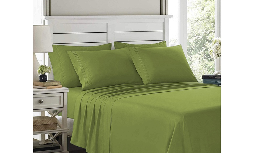 1800 Thread Count 6pc Bed Sheet Set Egyptian Quality Deep Pocket All Sizes 14'