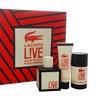 Lacoste Lacoste Live 3.3oz EDT Spray, 1.6oz Shower Gel, 2.4oz Deodorant Stick