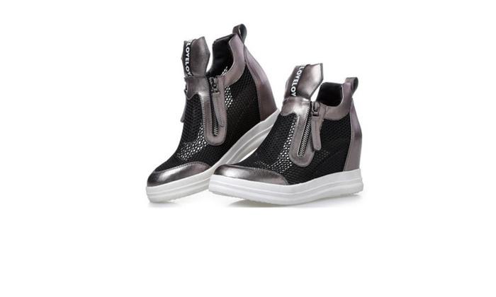 Women's Simple Cattlehide Platform Shoes
