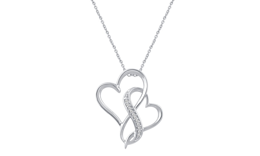 Silver Heart charm  stones 925