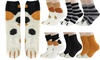 Womens Girls Winter Cat Claws Cute Thick Warm Slipper Socks