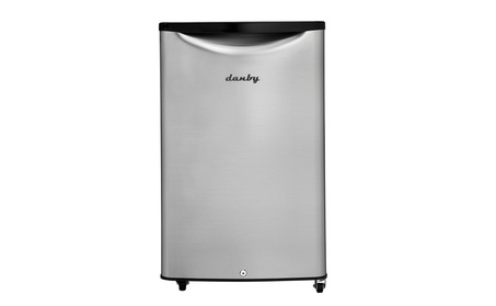 Danby 4.4 cu. ft Outdoor Rated Compact All Refrigerator, Spotless Steel photo