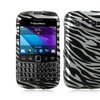 Insten Zebra Hard Rubberized Cover Case For BlackBerry Bold 9790 - Silver/Black