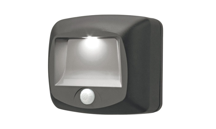 Mr. Beams Battery-Operated Motion-Sensing LED Stair Light, Brown