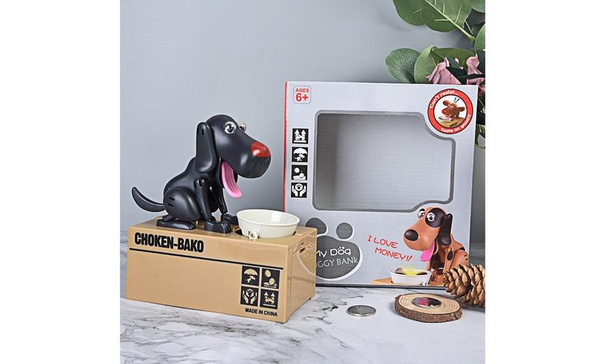 Robotic Coin Munching Toy Money Box Saving Box Children/'s Bank New My Dog Bank