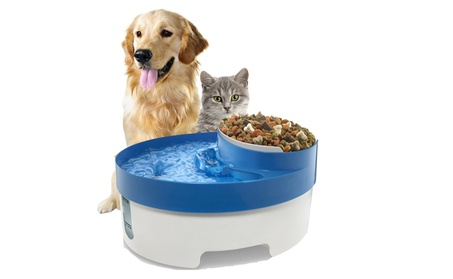 Pet Water Fountain For Cat Dog Automatic Food Bowl Dish Feeder e43aaa88-bfd5-4ca6-9af1-abb8d4fc3fc2