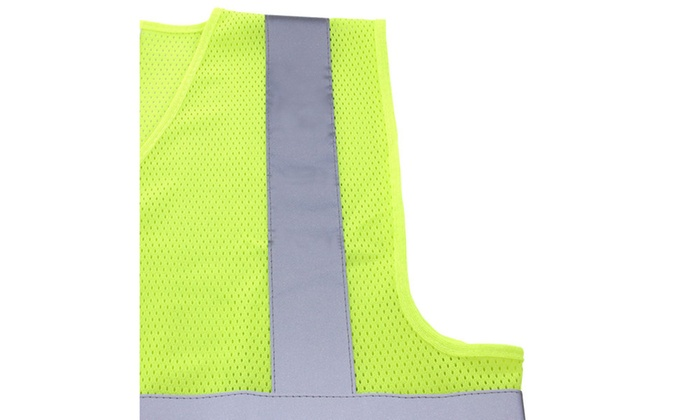 TR Yellow Mesh Safety Vest 5 Pack
